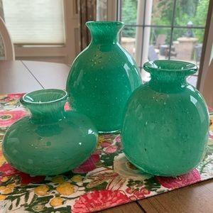 MAGNOLIA set of three bud vases.